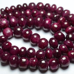 Shop Ruby Rondelle Beads! 20.5 Inches Strand Natural Ruby Rondelle 7mm to 13mm, 636 Carats Smooth Rondelles Gemstone Beads Superb Ruby Rondelles Stone Beads No2465 | Natural genuine rondelle Ruby beads for beading and jewelry making.  #jewelry #beads #beadedjewelry #diyjewelry #jewelrymaking #beadstore #beading #affiliate #ad
