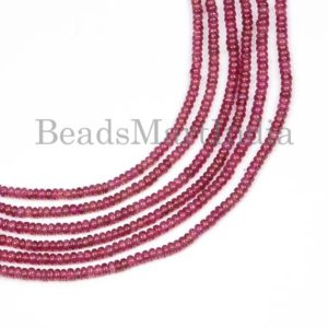 Shop Ruby Rondelle Beads! Natural Ruby Plain Rondelle Beads, Natural Ruby Rondelle Beads, Natural Ruby plain Beads, Ruby Beads,  Plain Rondelle Ruby Beads | Natural genuine rondelle Ruby beads for beading and jewelry making.  #jewelry #beads #beadedjewelry #diyjewelry #jewelrymaking #beadstore #beading #affiliate #ad