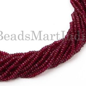 Shop Ruby Rondelle Beads! Natural Ruby Plain Rondelle Shape Beads, Ruby Rondelle Shape Gemstone Beads, Ruby Smooth Beads, Ruby Plain Rondelle Beads, Ruby Beads | Natural genuine rondelle Ruby beads for beading and jewelry making.  #jewelry #beads #beadedjewelry #diyjewelry #jewelrymaking #beadstore #beading #affiliate #ad