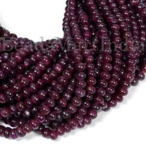 Shop Ruby Rondelle Beads! Ruby Smooth Rondelle Shape Natural Beads, Ruby Beads, Ruby Smooth Beads, Ruby Rondelle Shape Beads, Ruby Plain Rondelle Beads, Ruby | Natural genuine rondelle Ruby beads for beading and jewelry making.  #jewelry #beads #beadedjewelry #diyjewelry #jewelrymaking #beadstore #beading #affiliate #ad