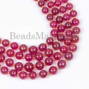 Shop Ruby Round Beads! Natural Ruby Plain Round Beads, Natural Ruby Round Beads, Plain Natural Ruby Beads, Natural Ruby Beads, Plain Round Beads | Natural genuine round Ruby beads for beading and jewelry making.  #jewelry #beads #beadedjewelry #diyjewelry #jewelrymaking #beadstore #beading #affiliate #ad
