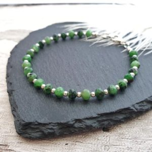 Shop Ruby Zoisite Bracelets! Ruby Zoisite Bracelet, Sterling Silver, Green Gemstone Bead Bracelet, Gift for Her, Birthday Gift for Friend, Healing Jewellery, Daughter   Natural genuine Ruby Zoisite bracelets. Buy crystal jewelry, handmade handcrafted artisan jewelry for women.  Unique handmade gift ideas. #jewelry #beadedbracelets #beadedjewelry #gift #shopping #handmadejewelry #fashion #style #product #bracelets #affiliate #ad