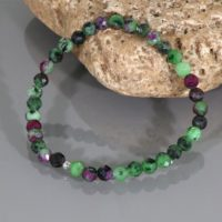 Natural Ruby Zoisite Bracelet, Ruby Zoisite Stretch Bracelet, Ruby Zoisite Bead Bracelet, Gemstone Bracelet, Ruby Zoisite Jewelry Gift | Natural genuine Gemstone jewelry. Buy crystal jewelry, handmade handcrafted artisan jewelry for women.  Unique handmade gift ideas. #jewelry #beadedjewelry #beadedjewelry #gift #shopping #handmadejewelry #fashion #style #product #jewelry #affiliate #ad