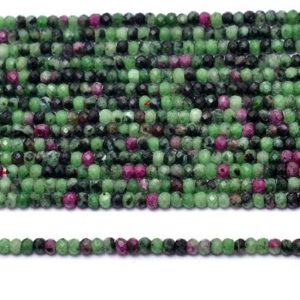 Shop Ruby Zoisite Faceted Beads! AAA+ Ruby Zoisite Gemstone 3mm Faceted Rondelle Beads | Natural Ruby Zoisite Semi Precious Gemstone Loose Beads for Jewelry | 13inch Strand | Natural genuine faceted Ruby Zoisite beads for beading and jewelry making.  #jewelry #beads #beadedjewelry #diyjewelry #jewelrymaking #beadstore #beading #affiliate #ad