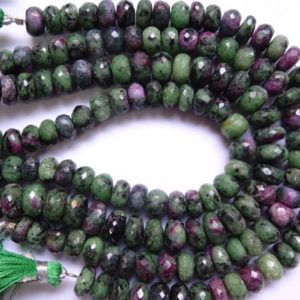 Shop Ruby Zoisite Rondelle Beads! Ruby zoisite Faceted Rondelles, Ruby zoisite Faceted Rondelle  Beads (7 to 9 mm) | Natural genuine rondelle Ruby Zoisite beads for beading and jewelry making.  #jewelry #beads #beadedjewelry #diyjewelry #jewelrymaking #beadstore #beading #affiliate #ad