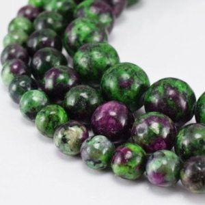 Shop Ruby Zoisite Round Beads! Ruby Zoisite Gemstone Round Beads 6mm/8mm/10mm Natural Stones Beads natural healing stone chakra stones for Jewelry Making | Natural genuine round Ruby Zoisite beads for beading and jewelry making.  #jewelry #beads #beadedjewelry #diyjewelry #jewelrymaking #beadstore #beading #affiliate #ad