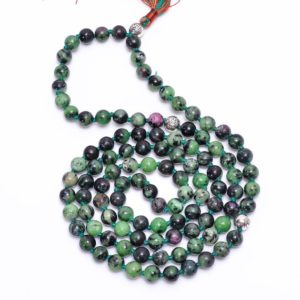 Shop Ruby Zoisite Necklaces! Ruby Zoisite Necklace-Natural Gemstone 108 Mala Beads Necklace-Grounding Healing Meditation Balance Calming Anti Anxiety BeadedNecklace | Natural genuine Ruby Zoisite necklaces. Buy crystal jewelry, handmade handcrafted artisan jewelry for women.  Unique handmade gift ideas. #jewelry #beadednecklaces #beadedjewelry #gift #shopping #handmadejewelry #fashion #style #product #necklaces #affiliate #ad