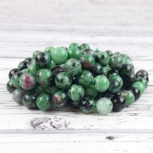 Shop Ruby Zoisite Bead Shapes! Ruby Zoisite Gemstone Beads, Reiki Infused Ruby in Zoisite Crystal Beads, A Extra Grade 8mm Beads, Ruby Beads | Natural genuine other-shape Ruby Zoisite beads for beading and jewelry making.  #jewelry #beads #beadedjewelry #diyjewelry #jewelrymaking #beadstore #beading #affiliate #ad