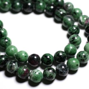 Shop Ruby Zoisite Bead Shapes! Wire 39cm 37pc env – stone beads – Ruby Zoisite balls 10 mm | Natural genuine other-shape Ruby Zoisite beads for beading and jewelry making.  #jewelry #beads #beadedjewelry #diyjewelry #jewelrymaking #beadstore #beading #affiliate #ad