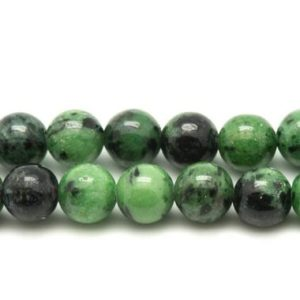 Shop Ruby Zoisite Bead Shapes! Yarn 39cm stone beads-Ruby zoisite balls 8mm | Natural genuine other-shape Ruby Zoisite beads for beading and jewelry making.  #jewelry #beads #beadedjewelry #diyjewelry #jewelrymaking #beadstore #beading #affiliate #ad