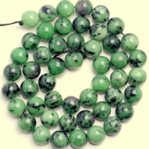 Shop Ruby Zoisite Round Beads! 10 Strands 6mm Ruby Zoisite Gemstone Green Red Grade AA Round Loose Beads 15.5 inch Full Strand BULK LOT (80000364-783 x10) | Natural genuine round Ruby Zoisite beads for beading and jewelry making.  #jewelry #beads #beadedjewelry #diyjewelry #jewelrymaking #beadstore #beading #affiliate #ad