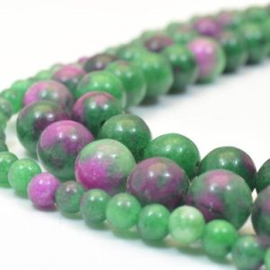 Shop Ruby Zoisite Round Beads! Ruby Zoisite Round Beads (dyed) 4mm/8mm Stones Beads healing stone chakra stones for Jewelry Making | Natural genuine round Ruby Zoisite beads for beading and jewelry making.  #jewelry #beads #beadedjewelry #diyjewelry #jewelrymaking #beadstore #beading #affiliate #ad