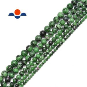 "Shop Ruby Zoisite Round Beads! Ruby Zoisite Smooth Round Beads Size 4mm 6mm 8mm 10mm 12mm 15.5"" Strand 