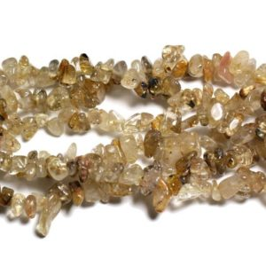 Shop Rutilated Quartz Chip & Nugget Beads! Wire 89cm 250pc env – stone beads – Golden rutilated Quartz rock Chips 5-10mm | Natural genuine chip Rutilated Quartz beads for beading and jewelry making.  #jewelry #beads #beadedjewelry #diyjewelry #jewelrymaking #beadstore #beading #affiliate #ad