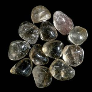 Shop Tumbled Rutilated Quartz Crystals & Pocket Stones! Smoky Rutilated Quartz Tumbled | Natural genuine stones & crystals in various shapes & sizes. Buy raw cut, tumbled, or polished gemstones for making jewelry or crystal healing energy vibration raising reiki stones. #crystals #gemstones #crystalhealing #crystalsandgemstones #energyhealing #affiliate #ad