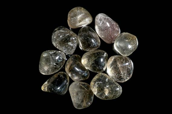 Smoky Rutilated Quartz Tumbled
