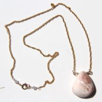 Scolecite Necklace With 14k Gold Filled Chain & Swarovski Crystals | Natural genuine Gemstone jewelry. Buy crystal jewelry, handmade handcrafted artisan jewelry for women.  Unique handmade gift ideas. #jewelry #beadedjewelry #beadedjewelry #gift #shopping #handmadejewelry #fashion #style #product #jewelry #affiliate #ad