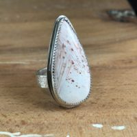 Scolecite Ring | Handmade In Ma | Sterling Silver Ring | Scolecite Jewelry | Natural genuine Gemstone jewelry. Buy crystal jewelry, handmade handcrafted artisan jewelry for women.  Unique handmade gift ideas. #jewelry #beadedjewelry #beadedjewelry #gift #shopping #handmadejewelry #fashion #style #product #jewelry #affiliate #ad