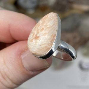 Shop Scolecite Jewelry! Pink Scolecite Ring, pink scolecite, pink scolecite ring, pink scolecite jewelry, scolecite jewelry, scolecite ring, 925 Sterling silver | Natural genuine Scolecite jewelry. Buy crystal jewelry, handmade handcrafted artisan jewelry for women.  Unique handmade gift ideas. #jewelry #beadedjewelry #beadedjewelry #gift #shopping #handmadejewelry #fashion #style #product #jewelry #affiliate #ad