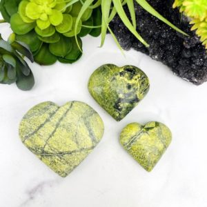 Shop Serpentine Shapes! Serpentine Polished Stone Hearts – BY WEIGHT (RK201) | Natural genuine stones & crystals in various shapes & sizes. Buy raw cut, tumbled, or polished gemstones for making jewelry or crystal healing energy vibration raising reiki stones. #crystals #gemstones #crystalhealing #crystalsandgemstones #energyhealing #affiliate #ad