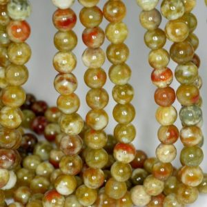 Shop Serpentine Beads! 8mm Russian Serpentine Gemstone Grade Aaa Green Red Round 8mm Loose Beads 15.5 Inch Full Strand Lot 1, 2, 6 And 12 (80000383-784) | Natural genuine beads Serpentine beads for beading and jewelry making.  #jewelry #beads #beadedjewelry #diyjewelry #jewelrymaking #beadstore #beading #affiliate #ad