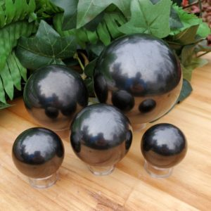 Shop Shungite Shapes! Shungite Spheres – 36 to 83mm – Shungite – Spheres – Shungite Stone – Crystal Sphere – EMF Protection – Grounding Stone -Calming -Protection | Natural genuine stones & crystals in various shapes & sizes. Buy raw cut, tumbled, or polished gemstones for making jewelry or crystal healing energy vibration raising reiki stones. #crystals #gemstones #crystalhealing #crystalsandgemstones #energyhealing #affiliate #ad