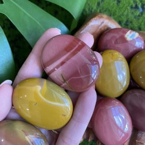 Small Mookaite palmstone, palm stone, Mookaite, mookaite pebble | Natural genuine stones & crystals in various shapes & sizes. Buy raw cut, tumbled, or polished gemstones for making jewelry or crystal healing energy vibration raising reiki stones. #crystals #gemstones #crystalhealing #crystalsandgemstones #energyhealing #affiliate #ad