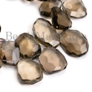 Shop Smoky Quartz Chip & Nugget Beads! Big Size Smoky Quartz Faceted Nugget Shape Beads, Smoky Quartz Faceted Beads, Smoky Quartz Nuggets, Smoky Quartz Beads, Quartz Beads | Natural genuine chip Smoky Quartz beads for beading and jewelry making.  #jewelry #beads #beadedjewelry #diyjewelry #jewelrymaking #beadstore #beading #affiliate #ad