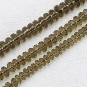 Shop Smoky Quartz Faceted Beads! Smoky Quartz Beads, Rondelle Faceted Beads, Natural Gemstone Beads, Faceted Beads Wholesale, 4x6mm 5x8mm 6x10mm | Natural genuine faceted Smoky Quartz beads for beading and jewelry making.  #jewelry #beads #beadedjewelry #diyjewelry #jewelrymaking #beadstore #beading #affiliate #ad
