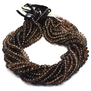 Shop Smoky Quartz Rondelle Beads! Smoky Quartz  Smooth Rondelle Beads | 5mm-8mm Beads 16inch Strand | Natural Brown Smoky Quartz Semi Precious Gemstone Beads | AAA Quality | Natural genuine rondelle Smoky Quartz beads for beading and jewelry making.  #jewelry #beads #beadedjewelry #diyjewelry #jewelrymaking #beadstore #beading #affiliate #ad