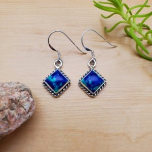 Shop Azurite Earrings! SoCute925 Azurite Malachite Earrings | Azurite Earrings | Azurite Silver Earrings | Southwestern Jewelry | Dangle Earrings | Made in USA | Natural genuine Azurite earrings. Buy crystal jewelry, handmade handcrafted artisan jewelry for women.  Unique handmade gift ideas. #jewelry #beadedearrings #beadedjewelry #gift #shopping #handmadejewelry #fashion #style #product #earrings #affiliate #ad
