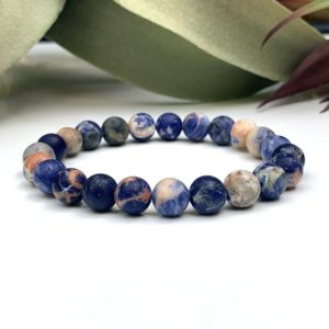 Shop Sodalite Bracelets! Genuine Natural Sodalite Matte Bracelet – Grounding Bracelets – Gemstone Bracelets – Healing Bracelets – Healing Stone – Chakra Healing | Natural genuine Sodalite bracelets. Buy crystal jewelry, handmade handcrafted artisan jewelry for women.  Unique handmade gift ideas. #jewelry #beadedbracelets #beadedjewelry #gift #shopping #handmadejewelry #fashion #style #product #bracelets #affiliate #ad