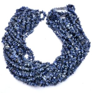Shop Sodalite Chip & Nugget Beads! Sodalite Gemstone Uncut Chips 5mm Beads Necklace | 35inch Strand | Natural Sodalite Semi Precious Gemstone Smooth Nuggets for Jewelry Making | Natural genuine chip Sodalite beads for beading and jewelry making.  #jewelry #beads #beadedjewelry #diyjewelry #jewelrymaking #beadstore #beading #affiliate #ad