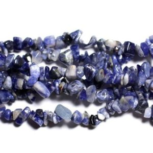 Shop Sodalite Chip & Nugget Beads! Sachet-110pc beads seed beads 4-10mm 4558550038746 Sodalite stone Chips | Natural genuine chip Sodalite beads for beading and jewelry making.  #jewelry #beads #beadedjewelry #diyjewelry #jewelrymaking #beadstore #beading #affiliate #ad