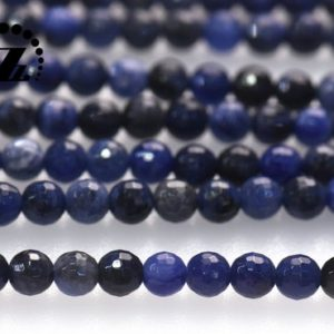 """Shop Sodalite Faceted Beads! Sodalite Faceted (128 Faces) Round Bedas,Blue Sodalite,Natural,Gemstoen,DIY Beads,6mm 8mm 10mm for choice,15"""" full strand 