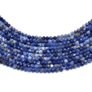 """Shop Sodalite Faceted Beads! AAA+ Sodalite Gemstone 2mm-3mm Micro Faceted Beads 