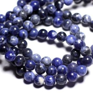 Shop Sodalite Bead Shapes! 10pc – beads of stone – Sodalite 6mm 4558550026934 balls | Natural genuine other-shape Sodalite beads for beading and jewelry making.  #jewelry #beads #beadedjewelry #diyjewelry #jewelrymaking #beadstore #beading #affiliate #ad