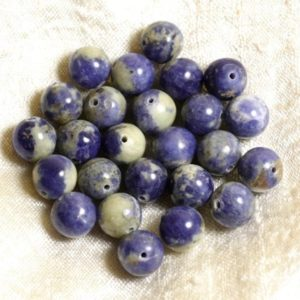 Shop Sodalite Bead Shapes! 4pc – beads of stone – Sodalite No. 2 balls 10mm 4558550002945 | Natural genuine other-shape Sodalite beads for beading and jewelry making.  #jewelry #beads #beadedjewelry #diyjewelry #jewelrymaking #beadstore #beading #affiliate #ad