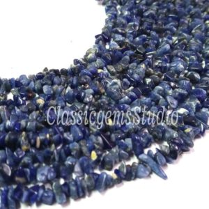 Shop Sodalite Chip & Nugget Beads! Sodalite Uncut Chips Loose Gemstone Beads 3 To 4mm Size, Natural Sodalite Raw Rough Nugget Shape Beads, 34Inch Strand | Natural genuine chip Sodalite beads for beading and jewelry making.  #jewelry #beads #beadedjewelry #diyjewelry #jewelrymaking #beadstore #beading #affiliate #ad