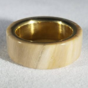 Shop Petrified Wood Rings! South Dakota Native* Petrified Wood Ring*brass Inner Lined* | Natural genuine Petrified Wood rings, simple unique handcrafted gemstone rings. #rings #jewelry #shopping #gift #handmade #fashion #style #affiliate #ad