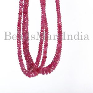 Shop Spinel Faceted Beads! Extremely Rare Red Spinel Faceted Rondelle Shape Beads, Red Spinel Faceted Beads, Red Spinel Beads, High Quality Natural Red Spinel Beads   Natural genuine faceted Spinel beads for beading and jewelry making.  #jewelry #beads #beadedjewelry #diyjewelry #jewelrymaking #beadstore #beading #affiliate #ad