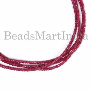 Shop Spinel Beads! High Quality Red Spinel Beads, Red Spinel Rondelle Beads, Red Spinel Faceted Beads, Red Spinel Faceted Rondelle Beads,Spinel Faceted Beads | Natural genuine beads Spinel beads for beading and jewelry making.  #jewelry #beads #beadedjewelry #diyjewelry #jewelrymaking #beadstore #beading #affiliate #ad