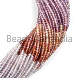 Shop Spinel Beads! Multi Spinel Faceted Rondelle Indian Cut Beads, Multi Spinel Beads, Faceted Multi Spinel Beads, Multi Spinel Rondelle Beads, Natural Beads | Natural genuine beads Spinel beads for beading and jewelry making.  #jewelry #beads #beadedjewelry #diyjewelry #jewelrymaking #beadstore #beading #affiliate #ad
