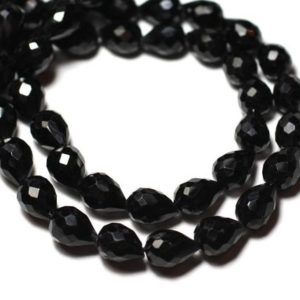 Shop Spinel Faceted Beads! Stone – spinel bead 1pc – black Teardrop faceted 7-9mm – 8741140008816   Natural genuine faceted Spinel beads for beading and jewelry making.  #jewelry #beads #beadedjewelry #diyjewelry #jewelrymaking #beadstore #beading #affiliate #ad
