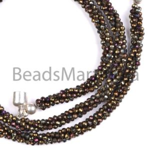Shop Spinel Necklaces! Black Spinel Mystic Faceted Rondelle Shape Bead Necklace With Silver Lock,Mystic Black Spinel Machine Cut Faceted Necklace,Black Spinel Bead | Natural genuine Spinel necklaces. Buy crystal jewelry, handmade handcrafted artisan jewelry for women.  Unique handmade gift ideas. #jewelry #beadednecklaces #beadedjewelry #gift #shopping #handmadejewelry #fashion #style #product #necklaces #affiliate #ad