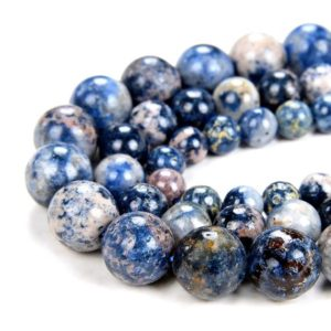 Shop Spinel Beads! New Found !!! Rare Natural Scorzalite Spinel With Muscovite In Pegmatite Cobalt Blue Grade Aa Round 6mm 7mm 8mm 9mm 10mm 11mm Beads (d59) | Natural genuine beads Spinel beads for beading and jewelry making.  #jewelry #beads #beadedjewelry #diyjewelry #jewelrymaking #beadstore #beading #affiliate #ad