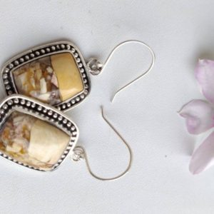 Shop Mookaite Jasper Earrings! Square shape mookaite earrings, 22*17 mm approx size, Sterling silver, natural and beautiful, silver ear wire, 92.5 purity | Natural genuine Mookaite Jasper earrings. Buy crystal jewelry, handmade handcrafted artisan jewelry for women.  Unique handmade gift ideas. #jewelry #beadedearrings #beadedjewelry #gift #shopping #handmadejewelry #fashion #style #product #earrings #affiliate #ad
