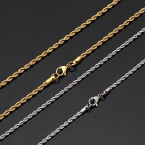 Shop Chain for Jewelry Making! Stainless Steel Chain, Jewelry Making Chain, Mens Chain,  Hypoallergenic, twist Chain-necklace Chain-t013 | Shop jewelry making and beading supplies, tools & findings for DIY jewelry making and crafts. #jewelrymaking #diyjewelry #jewelrycrafts #jewelrysupplies #beading #affiliate #ad
