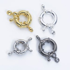 steering wheel clasps – silver plated brass clasp – gold plated spring ring jewelry clasps – wheel necklace clasp -size 9-17mm-10sets | Shop jewelry making and beading supplies, tools & findings for DIY jewelry making and crafts. #jewelrymaking #diyjewelry #jewelrycrafts #jewelrysupplies #beading #affiliate #ad