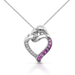Shop Pink Sapphire Necklaces! Sterling Silver 925 Created Pink Sapphire Necklace with Chain   Natural genuine Pink Sapphire necklaces. Buy crystal jewelry, handmade handcrafted artisan jewelry for women.  Unique handmade gift ideas. #jewelry #beadednecklaces #beadedjewelry #gift #shopping #handmadejewelry #fashion #style #product #necklaces #affiliate #ad